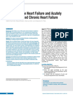 De Novo Acute Heart Failure and Acutely Decompensated Chronic Heart Failure
