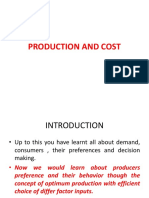 Production and Cost