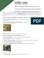 101 Cosas Que Ver en Castilla y Leon