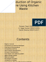 The Production of Organic Manure Using Kitchen Waste