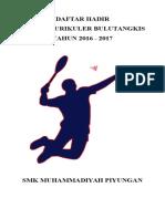 Sampul Ekstra Badminton