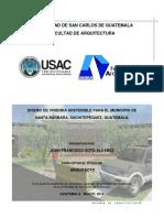 Diseño de Vivienda Sostenible Para El Municipio de Santa Barbara, Suchitepequez.