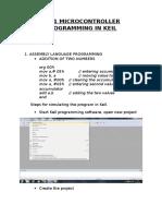 8051 Microcontroller Programming in Keil
