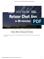 Create a Meteor Chat App in 30 Minutes ...Software Agency - Meteor Prime Partner