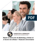 Master en Dirección de Marketing y Ventas en el Sector de la Moda + Titulación Universitaria