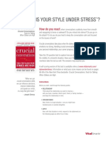 Style Under Stress Assessment