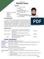 CV of Electrical Engineer Electronics Docfk