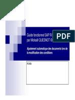 GU_SAP R3_Ajustement Automatique Des Documents Lors de La Modification Des Conditions