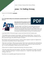 Obama to Congress_ I'm Selling Amway _ PA Pundits - International