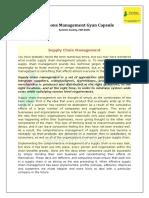 Operations Management Gyan Capsule