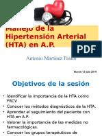 Manejo de la hipertensión arterial en el Centro de Salud