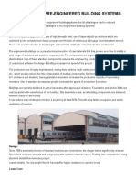 Advantages of Pre-Engineered Building Systems