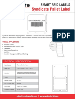 Syndicate RFID Pallet Labels