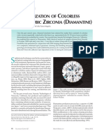 Characterization of Colorless Coated Cubic Zirconia Diamantine