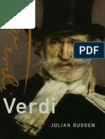 Verdi (Master Musicians Series) - Budden, Julian