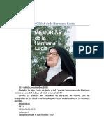Memorias de La Hermana Lucia (Fatima) - P. Luis Kondor