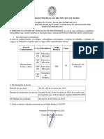 Edital Interno 01 2015 Reabertura Das Inscries CFP