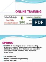 spring framework online course in INDIA|USA|UK