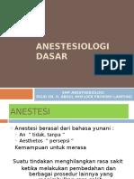 Anestesiologi Dasar
