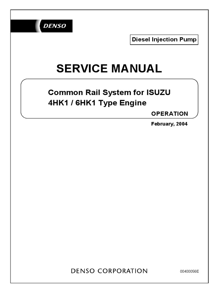 isuzu 4hk1 6hk1 type engine pdf fuel injection engines rh es scribd com isuzu 6sd1 engine parts manual Isuzu Diesel Engine Parts