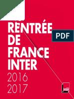 La rentrée de France Inter