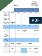 2mm timetable- parents