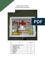 Harga Dan List Kotak p3k