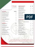 Butterfly Restaurant Wine List
