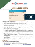 July GA Refresher