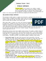 summary packet - unit 2