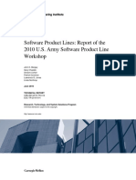 SEI Report of 2010 User Army Software Product Line Workshop