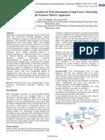 Establishing Hidden Semantics in Web Documents Using Fuzzy Clustering By Feature Matrix Approach
