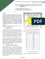 STUDY ON MULTI-BAND ALCHEMY FERMENT FRACTAL PATCH ANTENNA