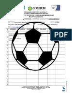 Futbol de Salón Masculino - Planilla de Inscripción