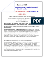 OM0013-Advance Production and Operation Management