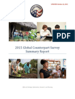 Peace Corps 2015 Global Counterpart Survey Summary Report