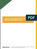 Guía de Ergonomía Para La Micro y Pequeña Empresa