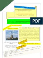 A Estátua da Liberdade e a Torre Eiffel