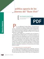 La Politica Agraria de Los Gobiernos Del Buen Vivir - Jairo Jurado
