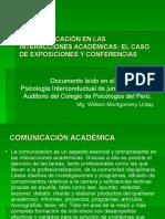 COMUNICACIÓN--ACADÉMICA