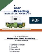 MB Lecture5 GeneticDiversity