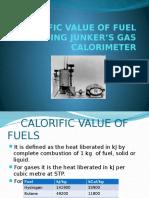 Calorific Value of Fuel Using Junker s Gas Calorimeter