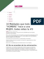 """10 Maldades Que Todo """"HOMBRE"""" Hace a Una MUJER, Todas Odian La #9"""