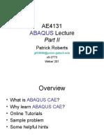 Ae4131 Abaqus Lecture 2