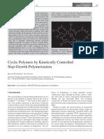 Cyclic Polymers by Kinetically Controlled Step Growth Polymerization