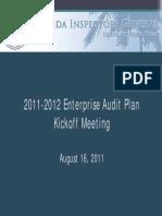 Florida IG Enterprise Audit Plan Kickoff Presentation August 2011