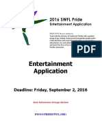 2016 SWFL Pride Entertainment Application