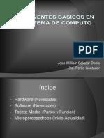 Componentes Básicos en Un Sistema de Computo
