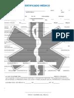 Modelo Certificado Medico Tipo Cruzroja
