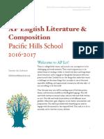 ap english lit syllabus updated
